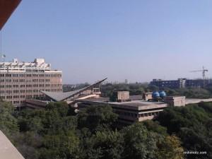 デリーの工科大学の屋上からの景色