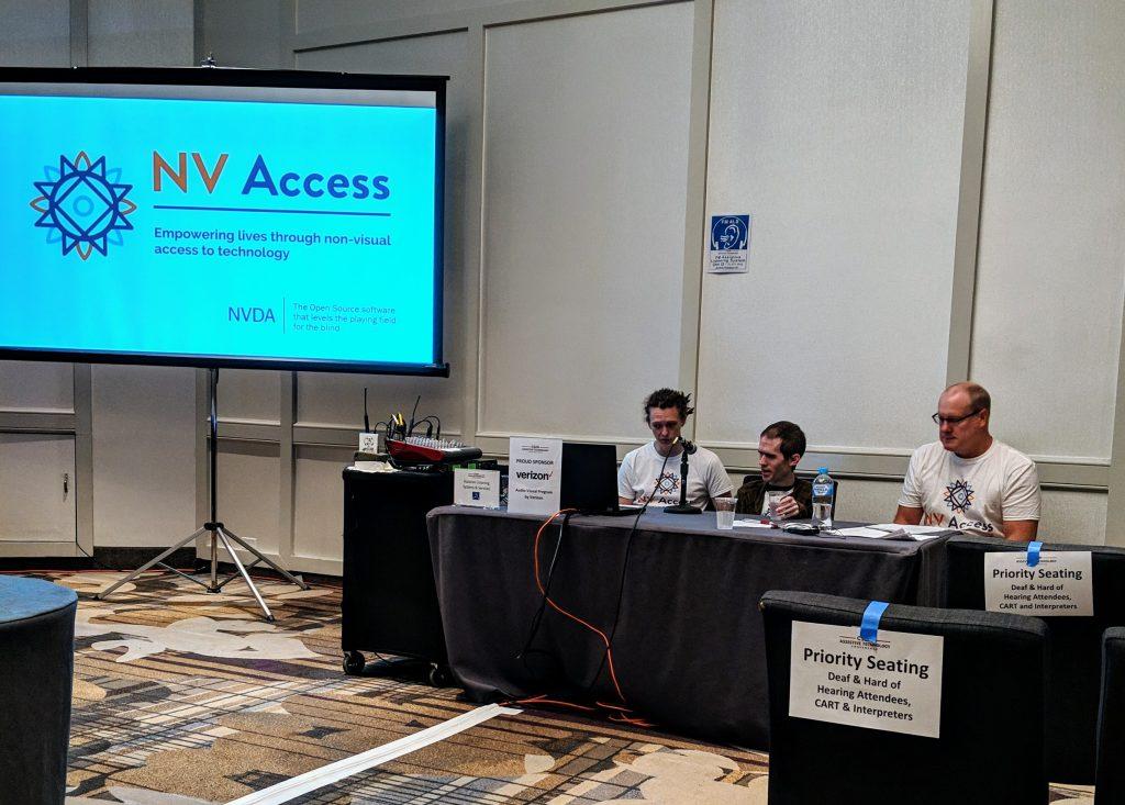 NV Access のセッションの様子